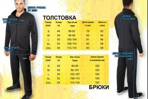 Таблицы размеров мужской одежды