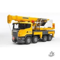Автокран Bruder Scania, с модулем света и звука
