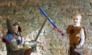 """Игрушка меч. """"Два меча"""" набор/ цвет Красный-Синий"""