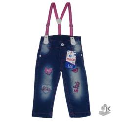 джинсы для девочки на бретелях