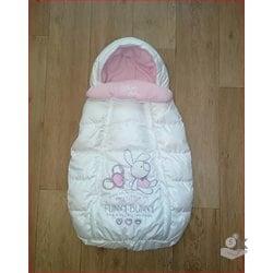 Конверт зимний для новорожденных белый З-456
