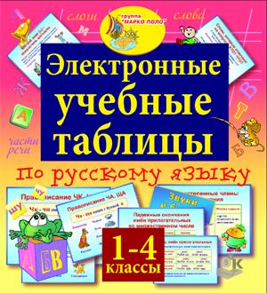 Русский язык 1-4 классы. Электронные учебные таблицы