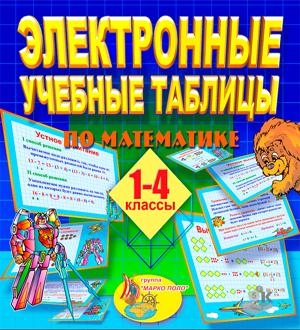 Математика 1-4 классы. Электронные учебные таблицы