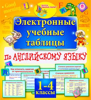 Английский язык 1-4 классы. Электронные учебные таблицы